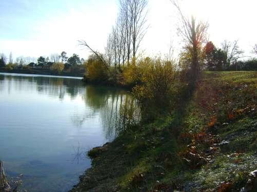 balade, canejan, lac vert, et le long de l'eau Bourde