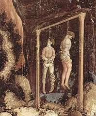 Pendus de Villon,Fresque de l'église Sant' Anastasia à Vérone.jpg