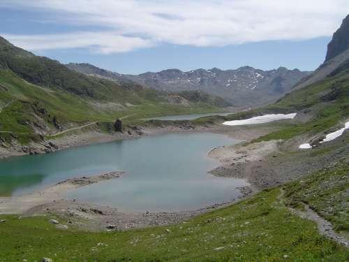 les 3 lacs,randos autour de valloire,juillet 2011